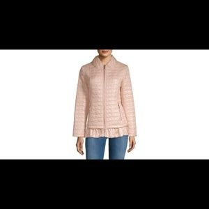kate spade New York Quilted Ruffle Hem Jacket